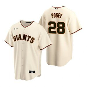 San Francisco Giants Buster Posey Jersey Cream